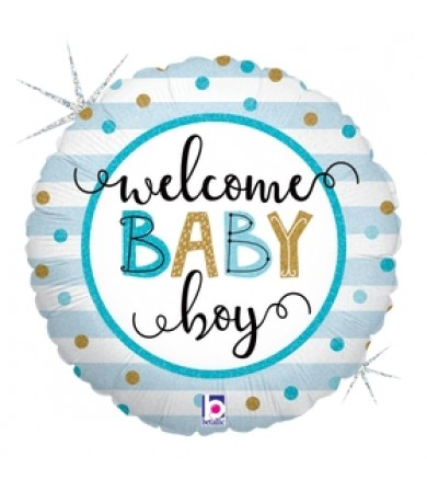 """26136P - Baby Boy Stripes (18"""")"""